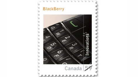 Canada Post is releasing this new commemorative stamp honouring the Canadian invented BlackBerry.