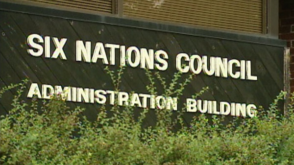 The headquarters of Six Nations Council is seen in this undated image taken from video.
