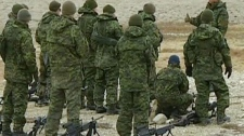 In the video image above a large number of military personnel help aid with the plane crash that occurred in Resolute Bay Aug. 20, 2011.