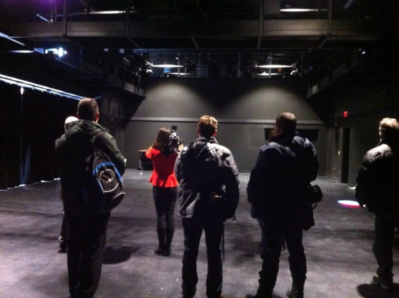 Media tour Fanshawe College's Centre for Digital and Performance Arts in London, Ont. on Monday, Jan. 6, 2013. (Fanshawe College / Twitter)