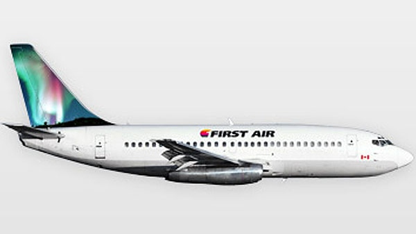 A First Air 737 jet appears in this photo from the airline's website. The airline has six Boeing 737s on its fleet.