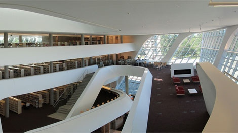 The new Surrey central library is 77,000-square-feet and will include a selection of 'living books.' (Surrey City Centre Library)