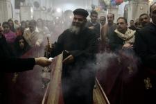 Egypt Christians Christmas Mass congregation