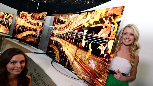 LG's flexible OLED televisions