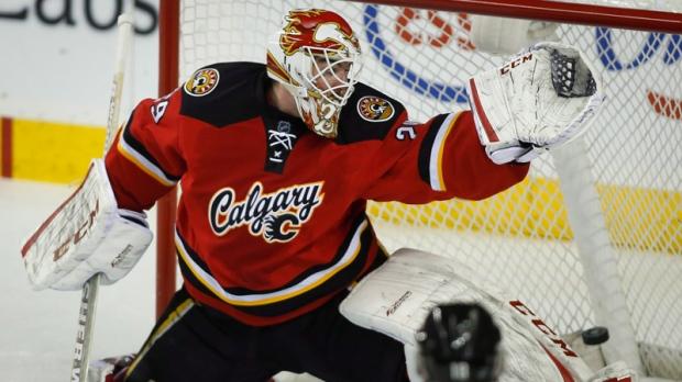 Calgary Flames goalie Reto Berra