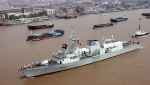 The Canadian Royal Navy ship HMCS Regina cruises in the Huangpu River in Shanghai, China, on Aug. 15, 2006.  (EyePress / THE CANADIAN PRESS / AP)