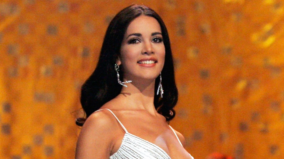 Monica Spear, Miss Venezuela 2005, competes at the Miss Universe competition on May 25, 2005 in Bangkok, Thailand. (AP / Rungroj Yongrit)