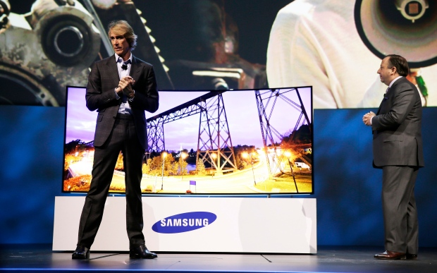 Michael Bay walks offstage at Samsung gig