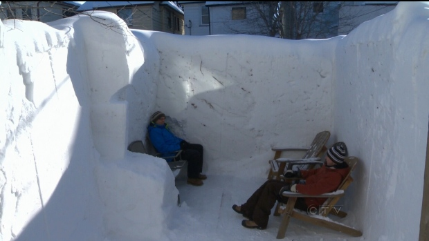 Man Cave Barrie : Ctv winnipeg man cave built out of snow news