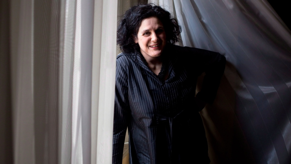 Director Jennifer Baichwal is pictured in a Toronto hotel room on Tuesday March 6, 2012. (Chris Young / THE CANADIAN PRESS)