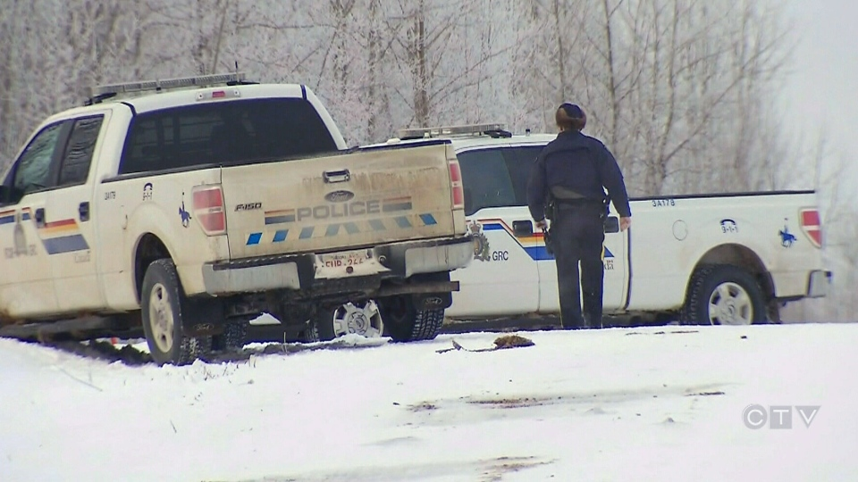 A police standoff east of Edmonton has left residents on edge, Tuesday, Jan. 7, 2014.
