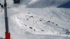 Rocks between slopes where Schumacher was injured
