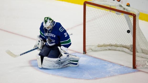 Vancouver Canucks goalie Eddie Lack