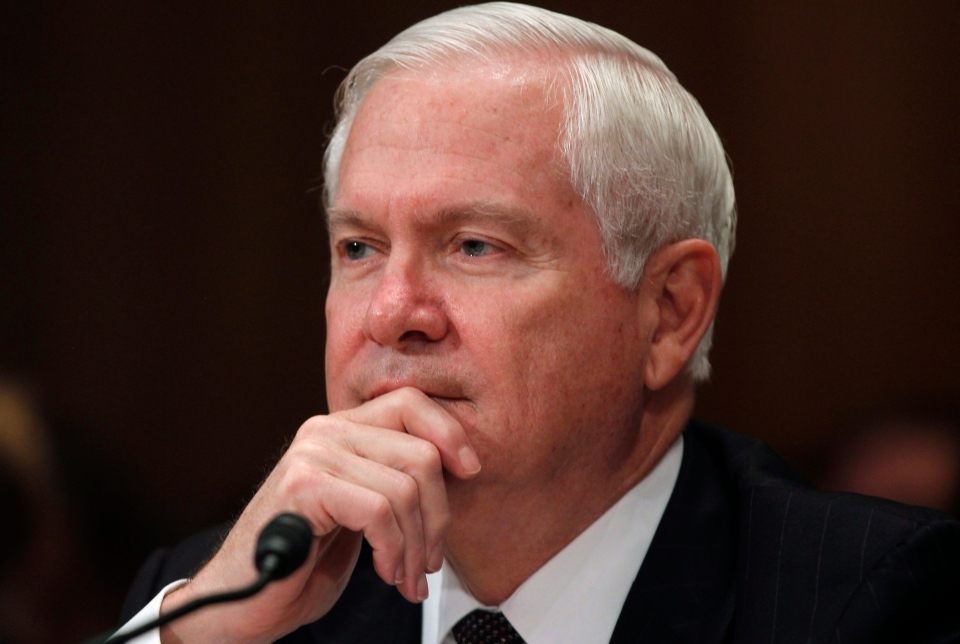 Then-Secretary of Defense Robert Gates testifies regarding the Department of Defense Fiscal Year 2012 budget request before the Senate Appropriations Committee Subcommittee on Defense on Capitol Hill in Washington, June 15, 2011. (AP / Charles Dharapak)