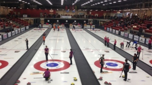 Four major curling events, the Scotties Tournament of Hearts, Tim Hortons Brier presented by AGI, the World Men's Curling Championship and the Canadian Mixed Doubles Curling Championship, are planned for Calgary in 2021. (File photo)