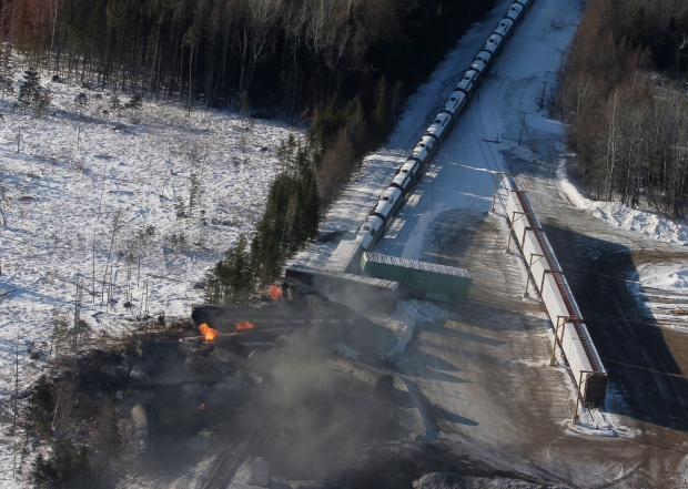 Train derailment Plaster Rock, New Brunswick