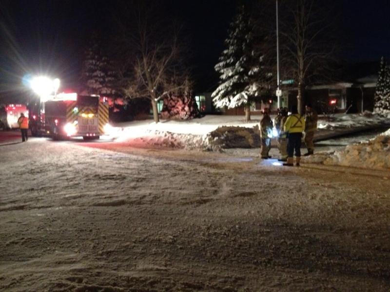 A nursing home is evacuated in Tecumseh, Ont. on Wednesday, Jan. 8, 2014. (Rich Garton / CTV Windsor)