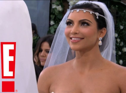 In this image courtesy E! Networks, Kim Kardashian is married in Montecito, Calif.