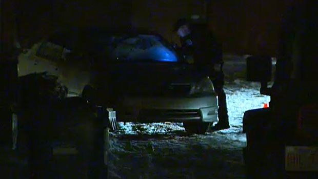 Police are at the scene investigating a vehicle where a man's body was found late Wednesday night.