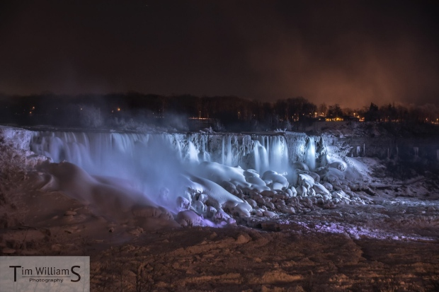 Niagara Falls frozen over