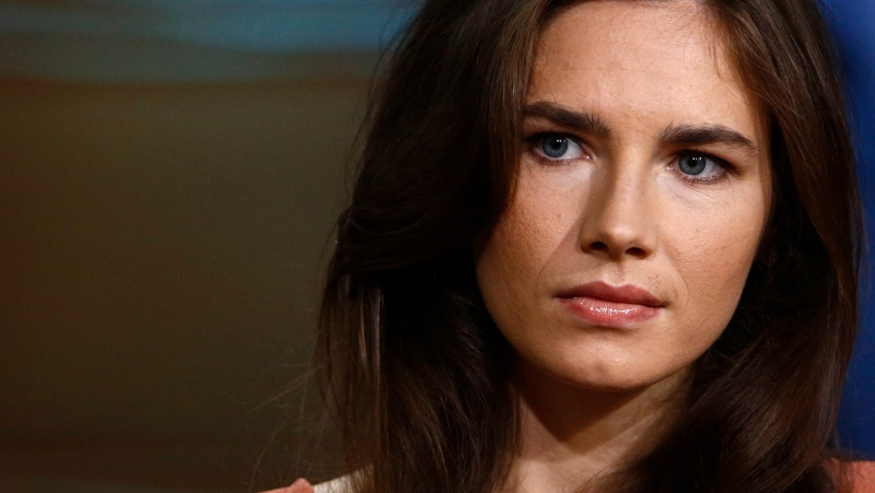 This image released by NBC shows Amanda Knox during an interview on the 'Today' show, in New York, Friday, Sept. 20, 2013. (AP / NBC, Peter Kramer)