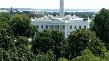 The White House is seen in Washington, D.C., moments after a 5.8 magnitude earthquake centred in the state of Virgina, shook much of Washington, D.C., and was felt as far north as Rhode Island and New York City on Tuesday, Aug. 23, 2011.