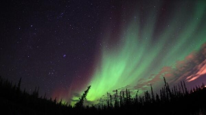 An October 2013 photo of the Northern Lights near Yellowknife, NWT (photo courtesy: AuroraMAX program)