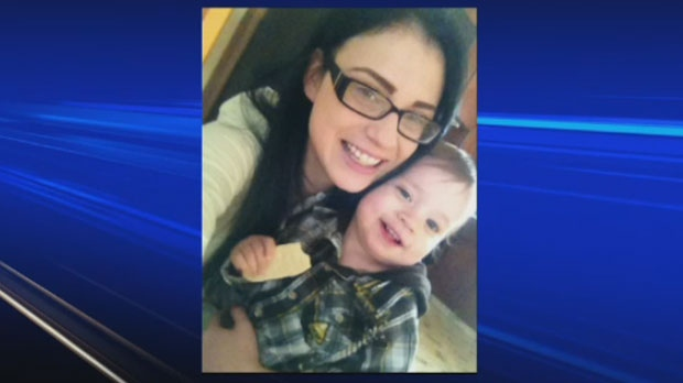 Michelle Prymych and Kylan Lux are shown in a file image. Kylan died on Dec. 12, 2013. Health officials in Manitoba found H1N1 in his lungs, but his death remains under investigation.