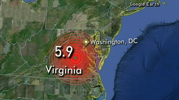The 5.9-magnitude earthquake centred in Virginia rattled the East Coast Tuesday, Aug. 23, 2011.