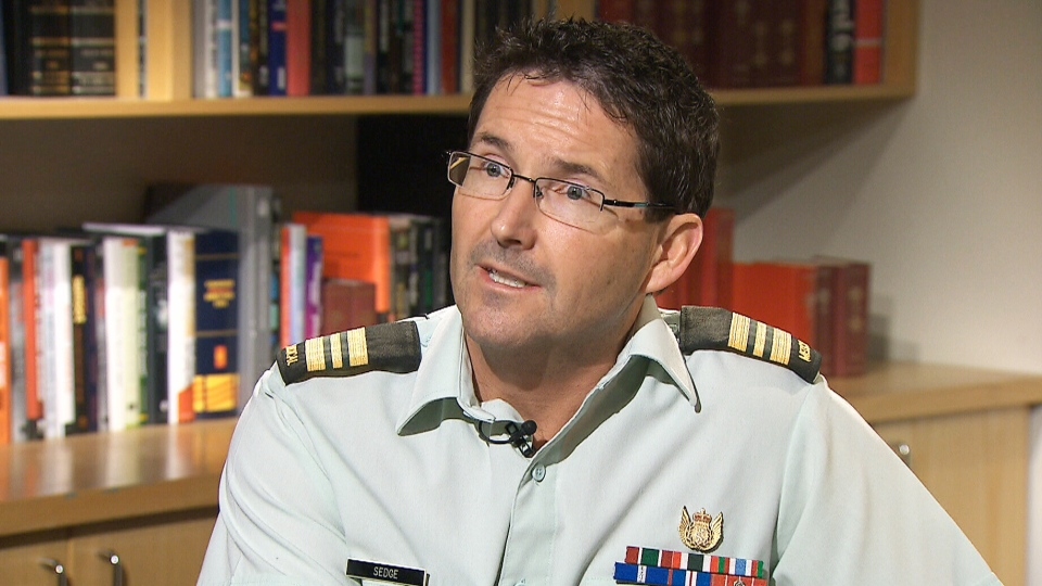 Canadian Forces psychiatrist Maj. Paul Sedge speaks to CTV News on Thursday, Jan. 9, 2014.