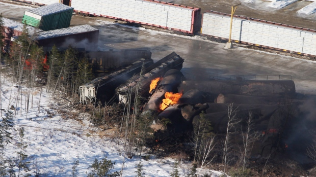 New Brunswick train derailment