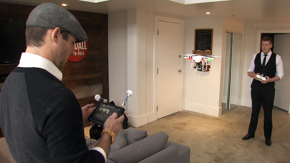Realtors and brothers Jordan and Russ Macnab are tapping into drone technology to create one-of-a-kind promotional videos for the homes they sell. Jan. 9, 2014. (CTV)