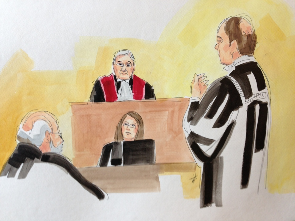 A defence lawyer announces he will file an appeal with the Supreme Court to make Guy Turcotte's original verdict stand (Jan. 10, 2013. Delphine Bergeron/CTV Montreal)
