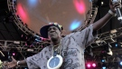 Flavor Flav of Public Enemy performs during the Virgin Mobile Freefest concert at Merriweather Post Pavilion in Columbia, Md., Aug. 30, 2009. (AP / Steve Ruark)