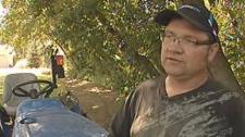 Idzerd Boersma, a Manitoba potato and onion farmer, was tilling his garden when he discovered a grenade.