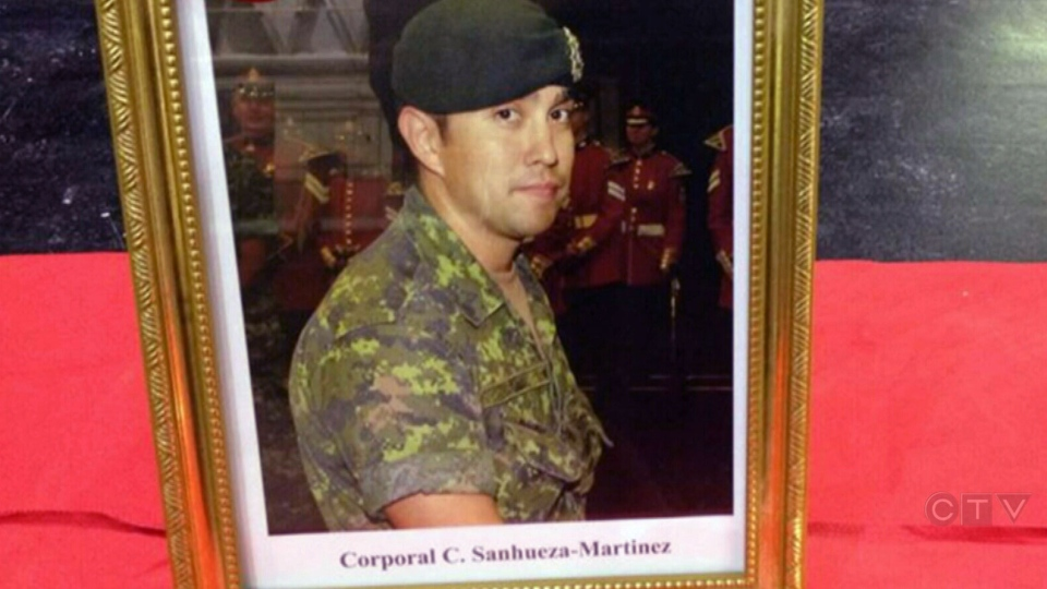 Cpl. Camilo Sanhueza-Martinez, a reservist belonging to The Princess of Wales' Own Regiment, is seen in this undated image.