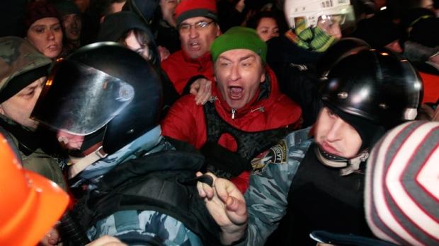 Clashes in Kyiv, Ukraine on Jan. 11, 2014