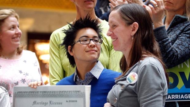 Same-sex marriages in Utah