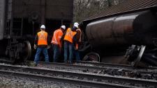 Freight train derails in Burnaby, B.C.