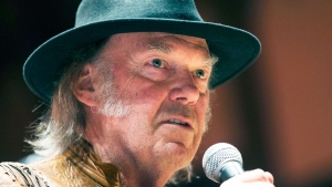 In this file photo, singer Neil Young speaks during a press conference in Toronto, Sunday January 12, 2014. (Mark Blinch / THE CANADIAN PRESS)