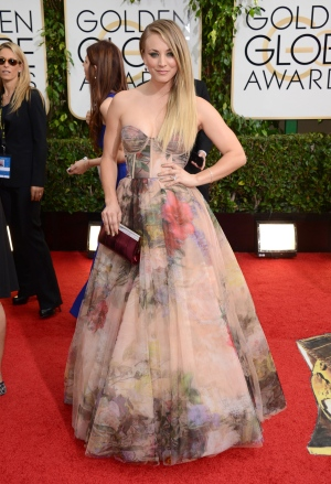 Stars arrive at the 71st Annual Golden Globe Award