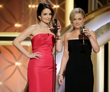Tina Fey and Tina Fey hosts at Golden Globes
