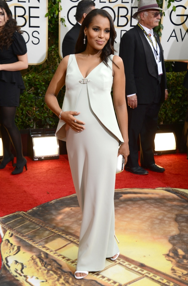 Kerry Washington pregnant Golden Globes