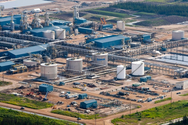 The Suncor Firebag oil sands facility