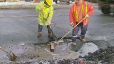 Pothole repair in Toronto