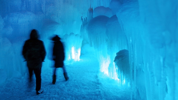 Ice castle in New Hampshire