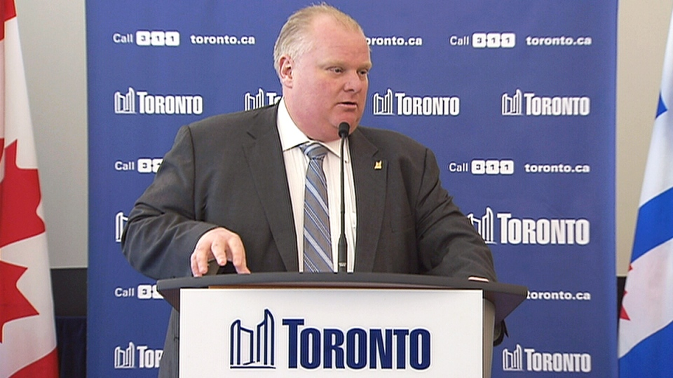 Toronto Mayor Rob Ford speaks to the media on Jan. 14, 2014.