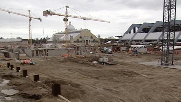 Lansdowne under construction