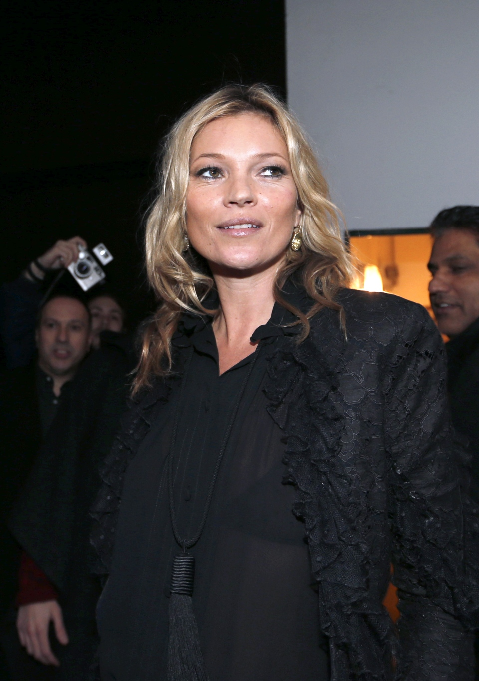 Kate Moss has a busy few months coming up as she makes her debut as contributing fashion editor at British Vogue, and in April launches an eagerly anticipated new collaboration with high-street fashion powerhouse Topshop. (AFP Photo/Francois Guillot)