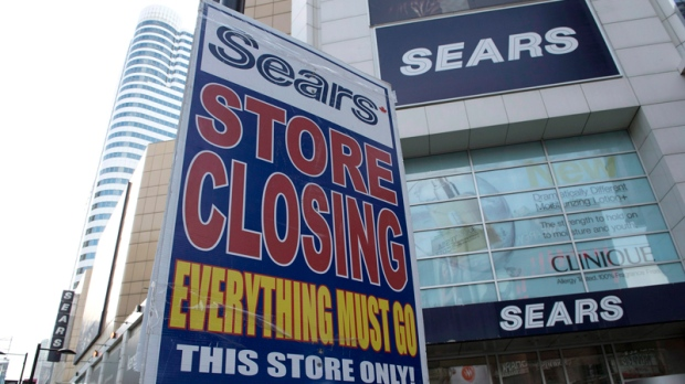 Final sale at Sears' Eaton Centre store